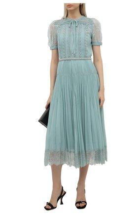 Женское платье SELF-PORTRAIT мятного цвета, арт. PF21-042 | Фото 2