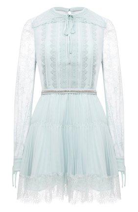 Женское платье SELF-PORTRAIT светло-голубого цвета, арт. PF21-042N | Фото 1