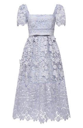 Женское платье SELF-PORTRAIT голубого цвета, арт. PF21-054 | Фото 1