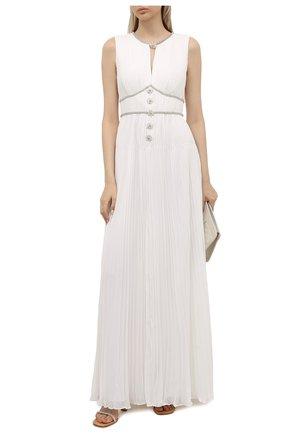 Женское платье SELF-PORTRAIT белого цвета, арт. PF21-060A | Фото 2