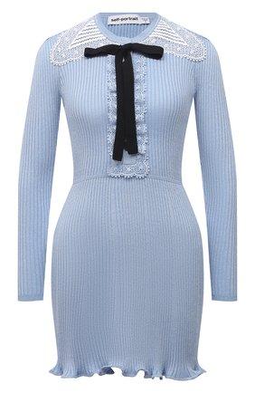 Женское платье SELF-PORTRAIT светло-голубого цвета, арт. PF21-078 | Фото 1