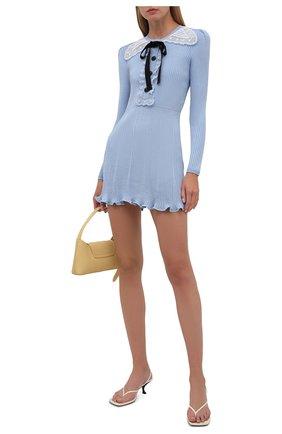Женское платье SELF-PORTRAIT светло-голубого цвета, арт. PF21-078 | Фото 2