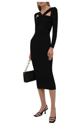 Женское платье SELF-PORTRAIT черного цвета, арт. PF21-083 | Фото 2