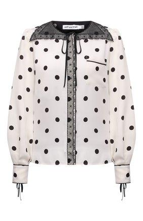 Женская блузка из вискозы SELF-PORTRAIT белого цвета, арт. PF21-094 | Фото 1
