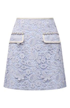Женская юбка SELF-PORTRAIT голубого цвета, арт. PF21-098 | Фото 1
