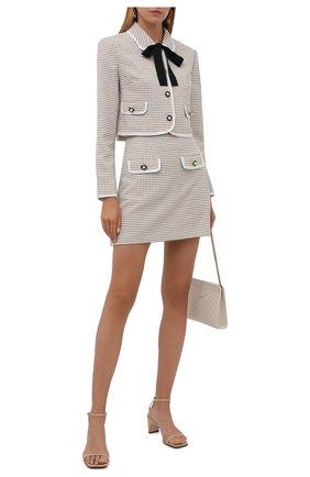 Женская юбка SELF-PORTRAIT бежевого цвета, арт. PF21-098A | Фото 2