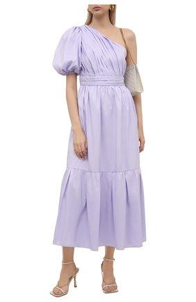 Женское платье SELF-PORTRAIT сиреневого цвета, арт. PF21-100 | Фото 2