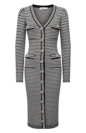 Женское платье из хлопка и шерсти SELF-PORTRAIT черно-белого цвета, арт. PF21-947 | Фото 1