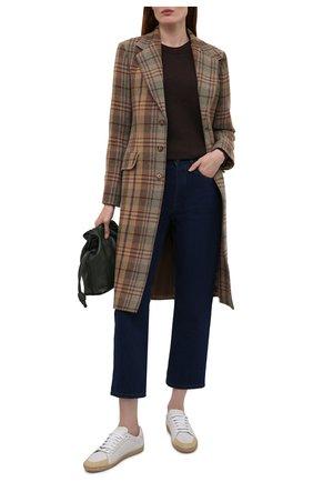 Женское пальто POLO RALPH LAUREN коричневого цвета, арт. 211843296 | Фото 2 (Материал внешний: Шерсть; Длина (верхняя одежда): До колена; Материал подклада: Вискоза; Рукава: Длинные; Стили: Кэжуэл)