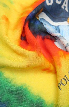 Женский хлопковый платок POLO RALPH LAUREN разноцветного цвета, арт. 455849486 | Фото 2 (Материал: Хлопок, Текстиль; Принт: С принтом)