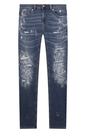 Детские джинсы DIESEL синего цвета, арт. 00J3RS-KXB9V   Фото 1 (Материал внешний: Хлопок; Кросс-КТ: джинсы; Ростовка одежда: 10 - 11 лет   140 - 146см, 12 лет   152 см, 13 - 15 лет   158 см, 16 лет   164 см, 8 лет   128 см)