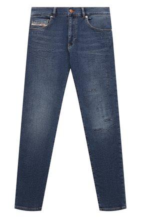 Детские джинсы DIESEL синего цвета, арт. J00196-KXB9S   Фото 1 (Материал внешний: Хлопок; Ростовка одежда: 10 - 11 лет   140 - 146см, 12 лет   152 см, 13 - 15 лет   158 см, 16 лет   164 см, 8 лет   128 см)