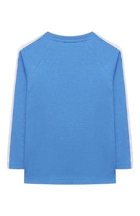 Детская хлопковый лонгслив DSQUARED2 голубого цвета, арт. DQ0304-D00XM | Фото 2