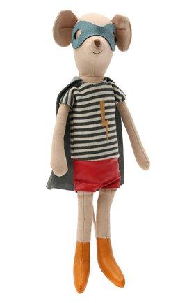 Детского игрушка мышонок супергерой MAILEG бежевого цвета, арт. 16-0752-00 | Фото 1
