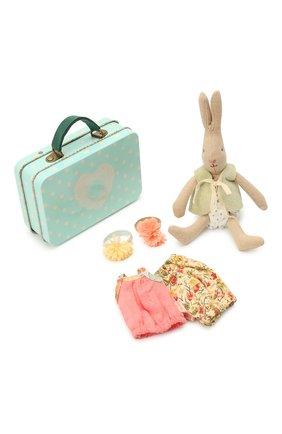 Детского игрушечный чемодан с кроликом и двумя комплектами одежды MAILEG разноцветного цвета, арт. 16-3000-02 | Фото 1