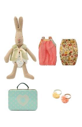Детского игрушечный чемодан с кроликом и двумя комплектами одежды MAILEG разноцветного цвета, арт. 16-3000-02 | Фото 2