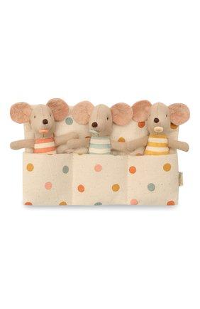 Детского игрушки мышата тройняшки MAILEG разноцветного цвета, арт. 16-1710-01 | Фото 1