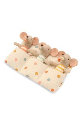 Детского игрушки мышата тройняшки MAILEG разноцветного цвета, арт. 16-1710-01 | Фото 2