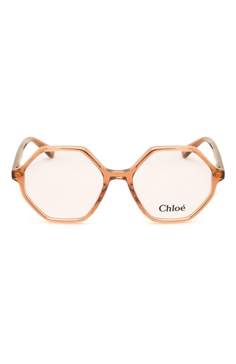 Детские оправа CHLOÉ коричневого цвета, арт. CC0005 003 | Фото 2 (Оптика Гендер: оптика-унисекс; Очки форма: Прямоугольные)