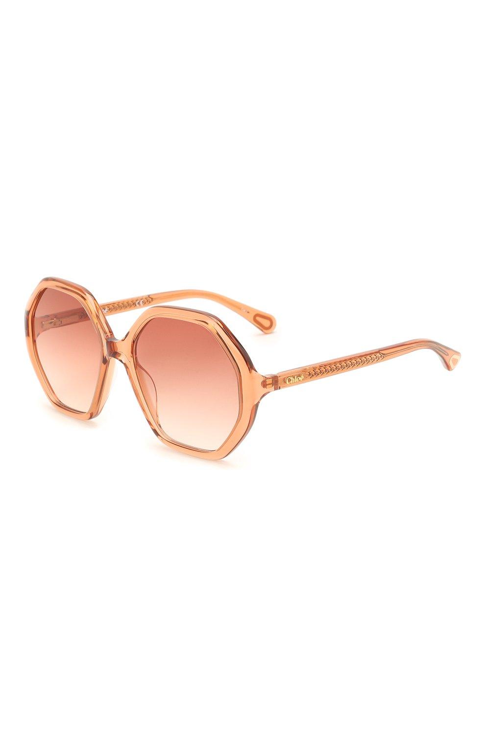 Детские солнцезащитные очки CHLOÉ оранжевого цвета, арт. CC0004S 002 | Фото 1 (Оптика Гендер: оптика-унисекс; Очки форма: Прямоугольные)