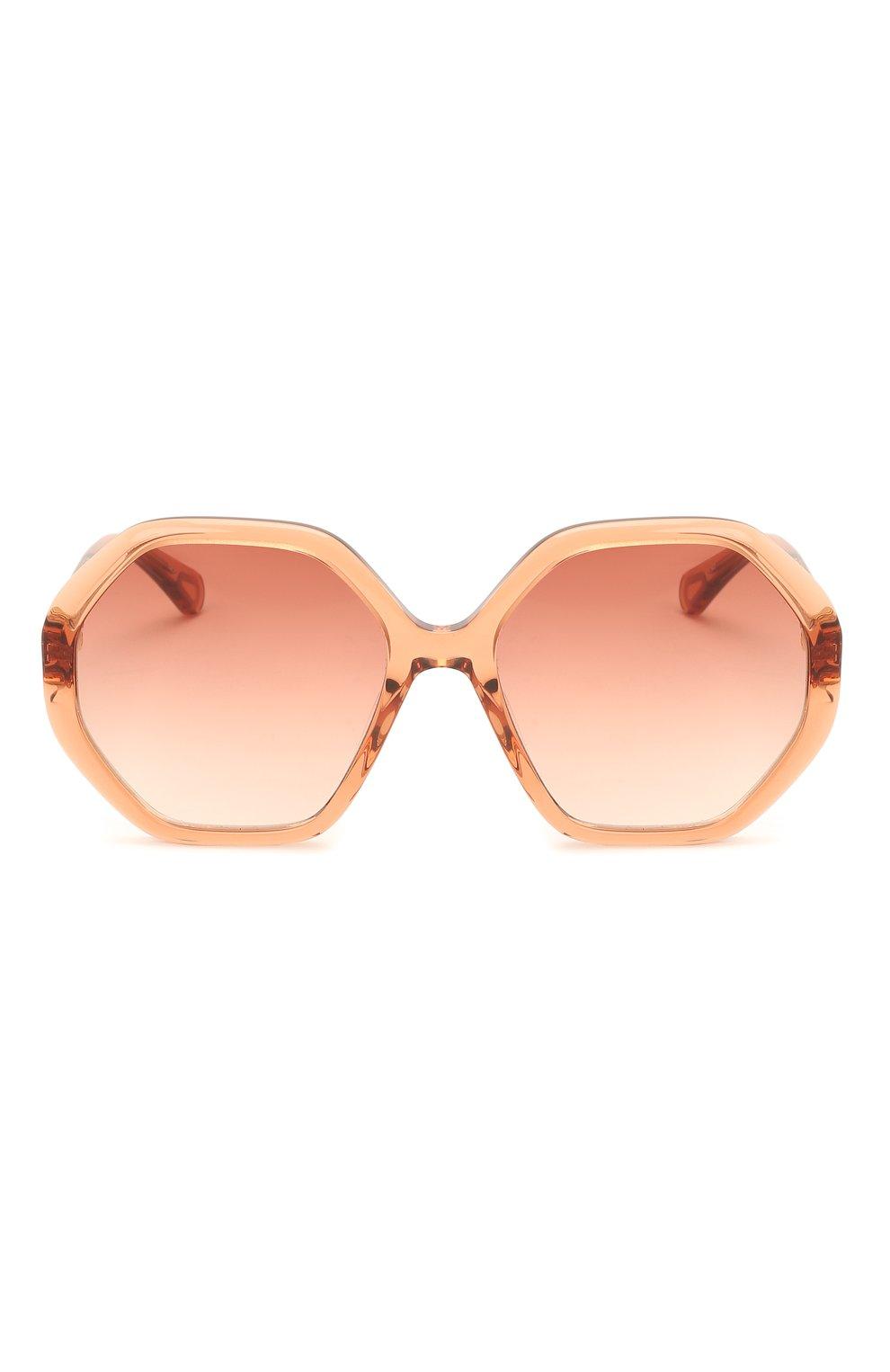 Детские солнцезащитные очки CHLOÉ оранжевого цвета, арт. CC0004S 002 | Фото 2 (Оптика Гендер: оптика-унисекс; Очки форма: Прямоугольные)
