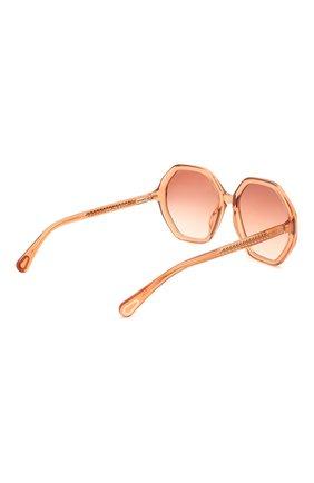 Детские солнцезащитные очки CHLOÉ оранжевого цвета, арт. CC0004S 002 | Фото 3 (Оптика Гендер: оптика-унисекс; Очки форма: Прямоугольные)