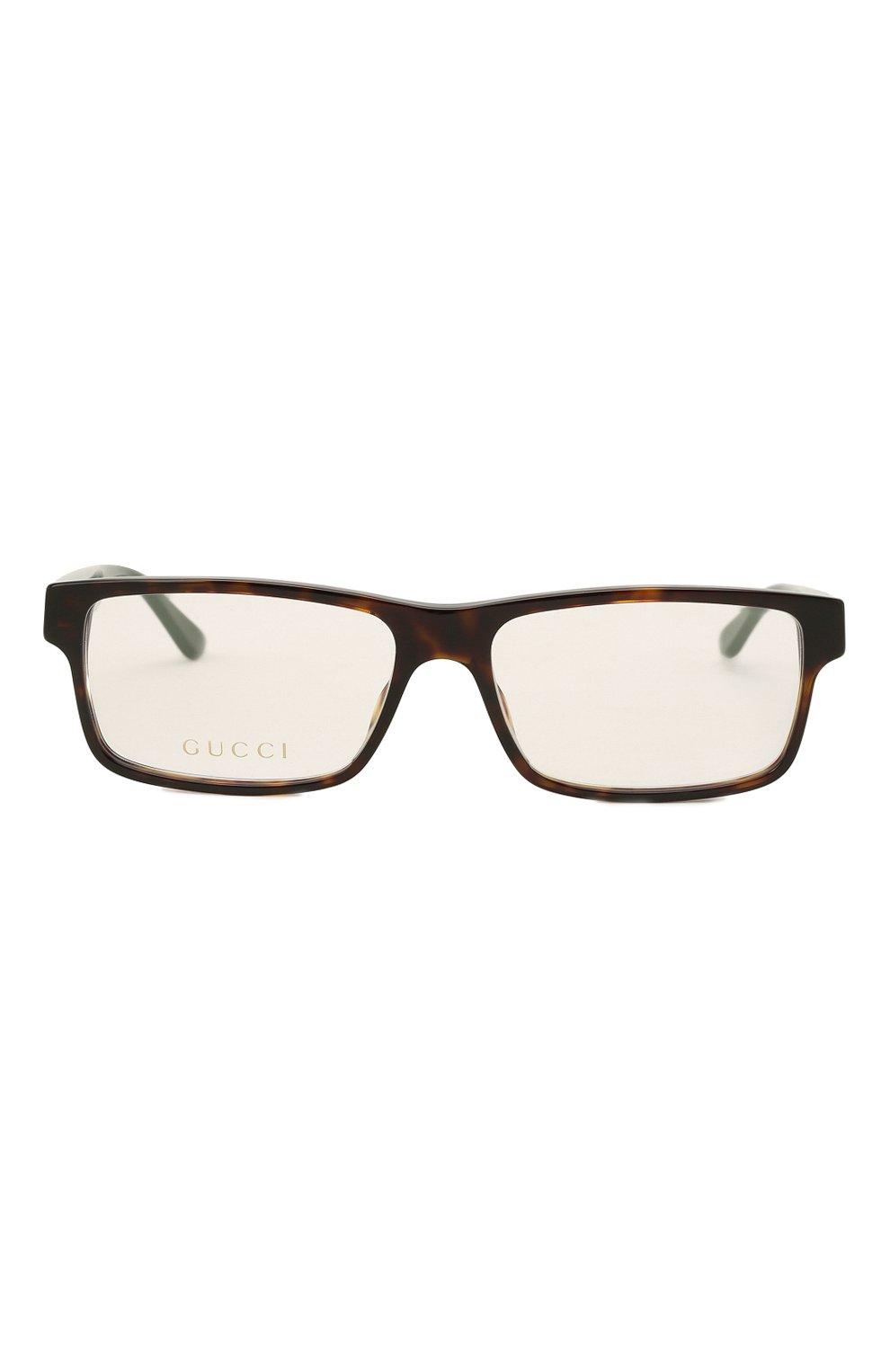 Мужские оправа GUCCI коричневого цвета, арт. GG0752 002   Фото 3 (Тип очков: Оправа; Очки форма: Прямоугольные; Оптика Гендер: оптика-мужское)