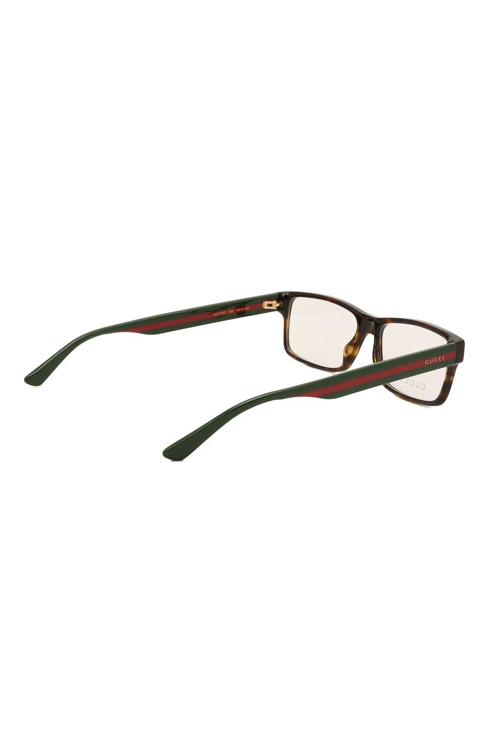 Мужские оправа GUCCI коричневого цвета, арт. GG0752 002   Фото 4 (Тип очков: Оправа; Очки форма: Прямоугольные; Оптика Гендер: оптика-мужское)