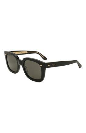 Мужские солнцезащитные очки GUCCI черного цвета, арт. GG0912S 001 | Фото 1