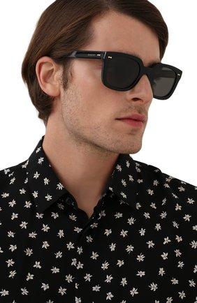 Мужские солнцезащитные очки GUCCI черного цвета, арт. GG0912S 001 | Фото 2