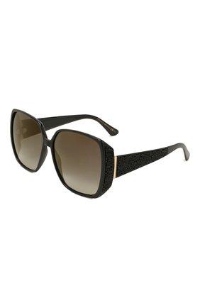 Женские солнцезащитные очки JIMMY CHOO черного цвета, арт. CL0E 807 | Фото 1