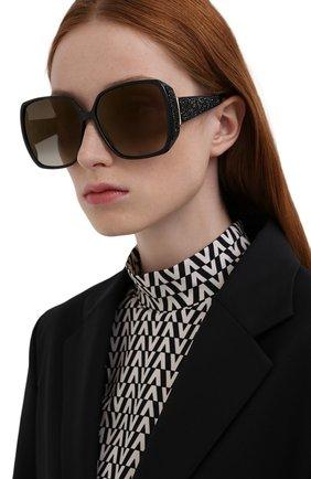 Женские солнцезащитные очки JIMMY CHOO черного цвета, арт. CL0E 807 | Фото 2