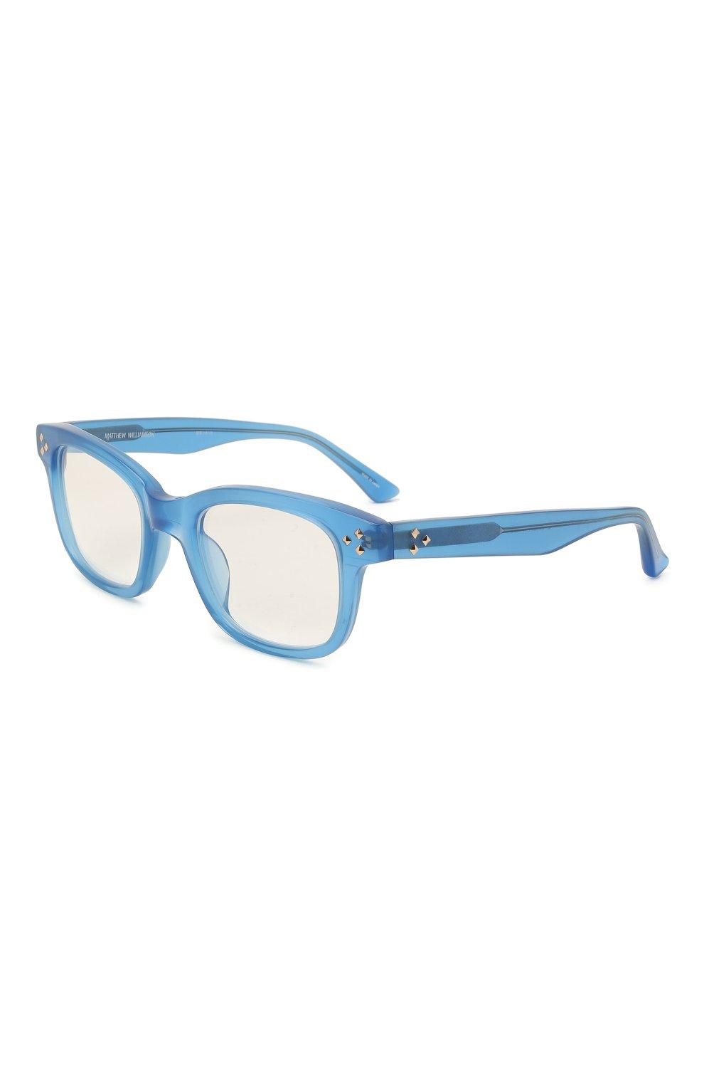 Женские оправа MATTHEW WILLIAMSON синего цвета, арт. MW31C11 0PT | Фото 1 (Тип очков: Оправа; Оптика Гендер: оптика-женское; Очки форма: Прямоугольные)