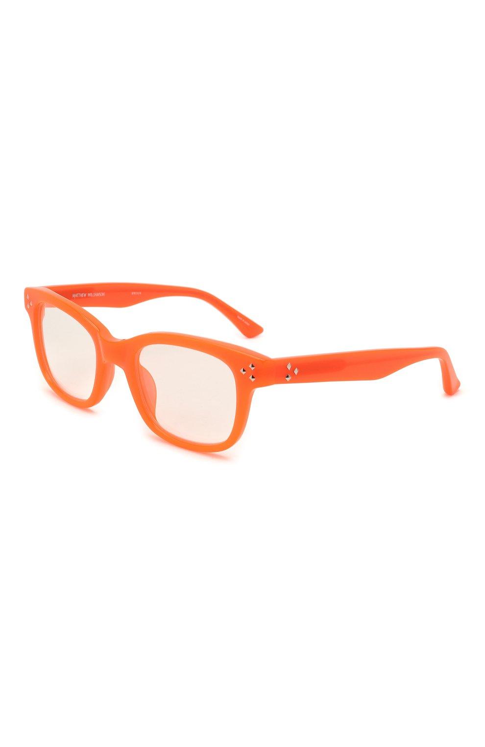 Женские оправа MATTHEW WILLIAMSON оранжевого цвета, арт. MW31C6 0PT | Фото 1 (Тип очков: Оправа; Оптика Гендер: оптика-женское; Очки форма: Прямоугольные)