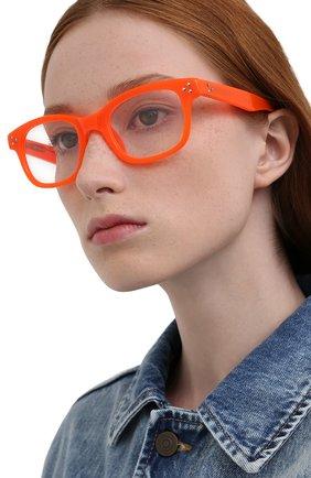 Женские оправа MATTHEW WILLIAMSON оранжевого цвета, арт. MW31C6 0PT | Фото 2 (Тип очков: Оправа; Оптика Гендер: оптика-женское; Очки форма: Прямоугольные)