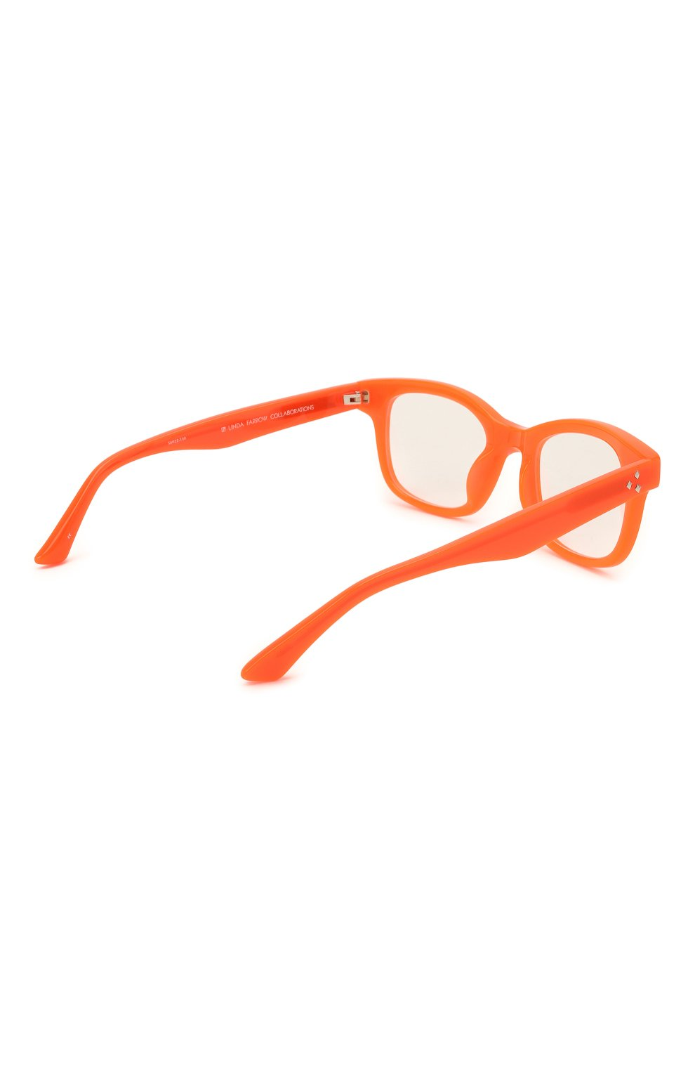 Женские оправа MATTHEW WILLIAMSON оранжевого цвета, арт. MW31C6 0PT | Фото 4 (Тип очков: Оправа; Оптика Гендер: оптика-женское; Очки форма: Прямоугольные)