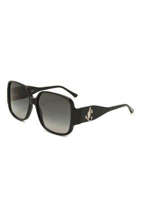 Женские солнцезащитные очки JIMMY CHOO черного цвета, арт. TARA DXF | Фото 1