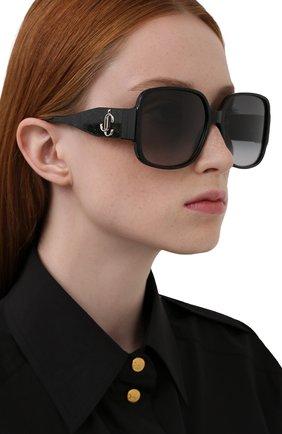 Женские солнцезащитные очки JIMMY CHOO черного цвета, арт. TARA DXF | Фото 2