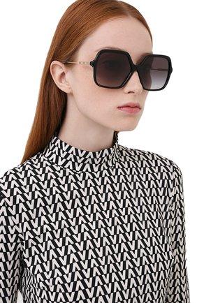 Женские солнцезащитные очки BURBERRY черного цвета, арт. 4324-30018G | Фото 2