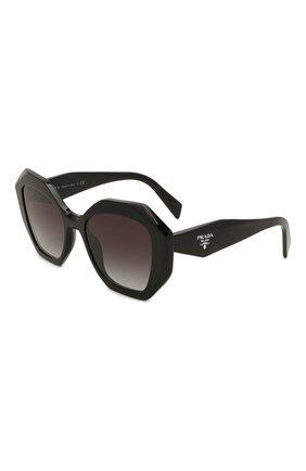 Женские солнцезащитные очки PRADA черного цвета, арт. 16WS-1AB5D1   Фото 1