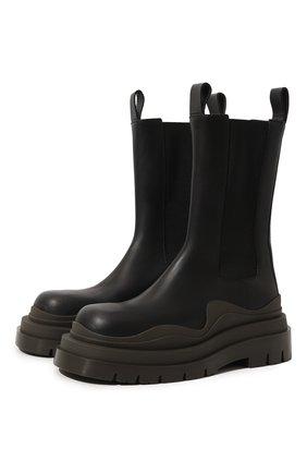 Женские кожаные ботинки bv tire BOTTEGA VENETA хаки цвета, арт. 630297/VBS50 | Фото 1 (Материал внутренний: Натуральная кожа; Женское Кросс-КТ: Военные ботинки; Подошва: Платформа; Каблук высота: Низкий)