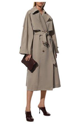 Женские кожаные мюли dot BOTTEGA VENETA бордового цвета, арт. 673780/V10M0 | Фото 2 (Подошва: Плоская; Материал внутренний: Натуральная кожа; Каблук тип: Шпилька; Каблук высота: Высокий)
