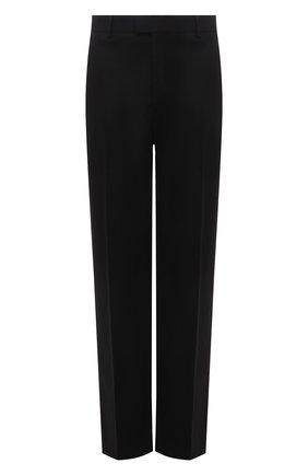 Мужские хлопковые брюки BOTTEGA VENETA черного цвета, арт. 666392/V0KF0 | Фото 1 (Длина (брюки, джинсы): Стандартные; Случай: Повседневный; Материал внешний: Хлопок; Стили: Кэжуэл)