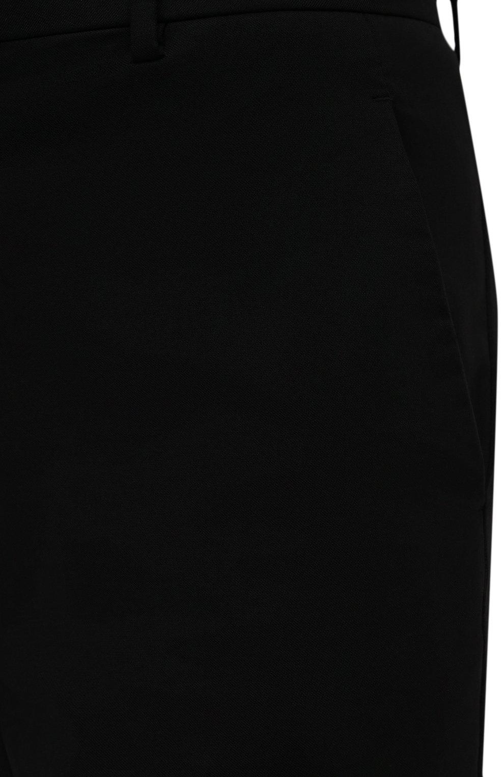Мужские хлопковые брюки BOTTEGA VENETA черного цвета, арт. 666392/V0KF0 | Фото 5 (Длина (брюки, джинсы): Стандартные; Случай: Повседневный; Материал внешний: Хлопок; Стили: Кэжуэл)