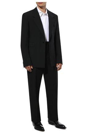 Мужские кожаные казаки chisel BOTTEGA VENETA черного цвета, арт. 667085/V10T0 | Фото 2 (Материал внутренний: Натуральная кожа; Подошва: Плоская; Мужское Кросс-КТ: Казаки-обувь, Сапоги-обувь, Челси-обувь)