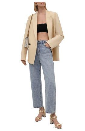 Женские кожаные босоножки VALENTINO кремвого цвета, арт. WW2S0CR2/ZWM | Фото 2