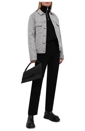 Женские кожаные ботинки hurr BURBERRY черного цвета, арт. 8043647 | Фото 2 (Подошва: Платформа; Материал внутренний: Натуральная кожа; Каблук высота: Низкий; Женское Кросс-КТ: Военные ботинки)