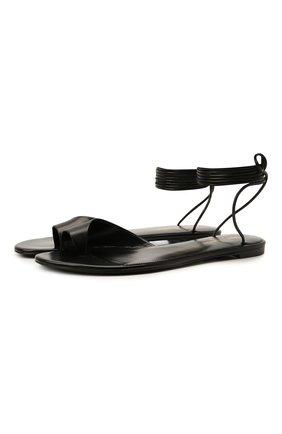 Женские кожаные сандалии gia SAINT LAURENT черного цвета, арт. 657919/2V700   Фото 1