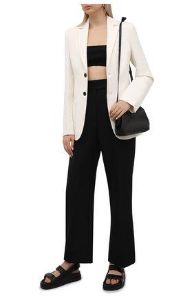 Женские кожаные сандалии lil GUCCI черного цвета, арт. 658813/C9D10 | Фото 2 (Подошва: Платформа; Материал внутренний: Натуральная кожа)