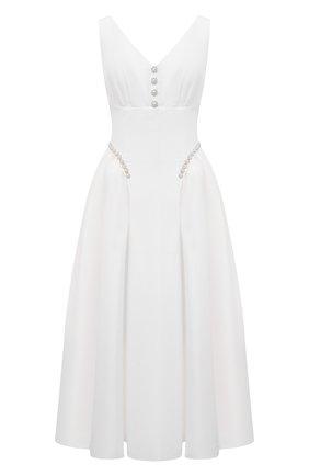 Женское платье SELF-PORTRAIT белого цвета, арт. PF21-017 | Фото 1